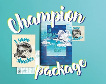 A Shark A Day - illustrated shark book. Donating 50% to save our oceans! CHAMPION
