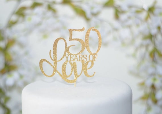 wedding cake toppers for 50th anniversary 50th wedding anniversary cake topper 50th birthday cake 26468