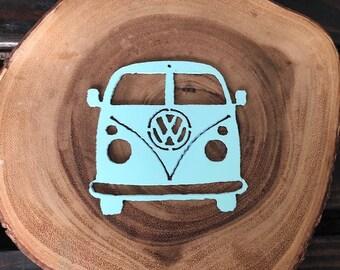 Volkswagon VW BUS Steel Metal Holiday Christmas Ornament Handmade