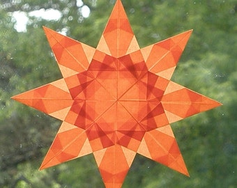 Vivid Orange Window Star Suncatcher