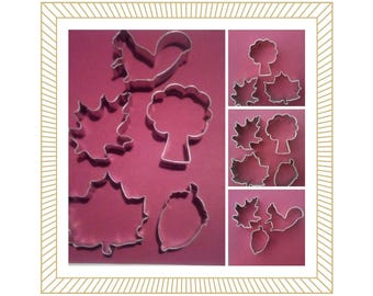 Fall cookie cutter, Pick a set. Tree cookie cutter, Maple leaf cookie cutter, oak leaf cookie cutter, squirrel cookie, Acorn  Cookie Cutter