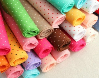 Polka Dot Felt - You Choose 10 9x12 inch sheets