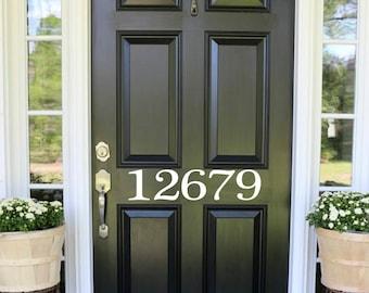 Captivating Number Door Decal Door Number Decal Front Door Decals Custom Home Number  Decals