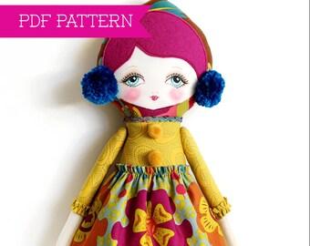 Doll Pattern, PDF Pattern, Cloth Doll, Rag Doll, Art Doll, Felt Doll, Waldorf Doll, Toy Sewing Pattern, Softy Pattern, Doll Tutorial