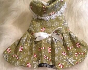 Green Glitter Candy Cane Dress