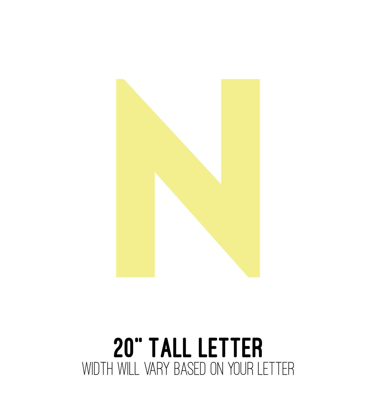 20 TALL Wood Initial Letter Wooden Letter Wall Art
