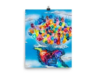 Photo paper Head in the clouds print