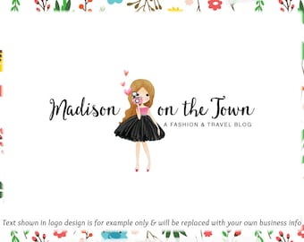 Photographer Girl Blog Header & Logo Design - Web + Print Files + Watermarks! -Limited Edition! Perfect For Blogger, Photography + more!