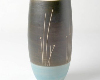 Hand-made tall vase for long-stemmed flowers. Gifts for her
