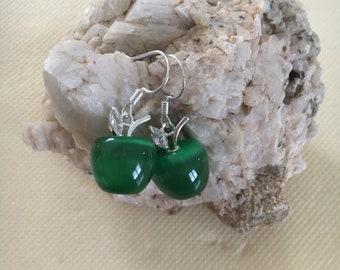 Pretty Green Apple earrings