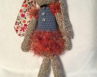 Crochet Pretty bunny girl in blue