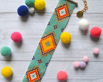 Bohemian Miyuki flexible Cuff Bracelet