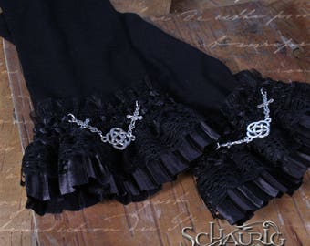 Black warmers with Celtic knot