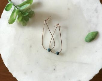 Rose Gold Hammered Diffuser Earrings