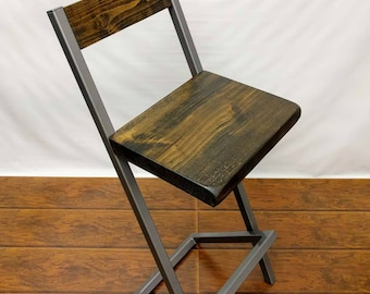 "Bar stools 36"" X style bar stool with back."