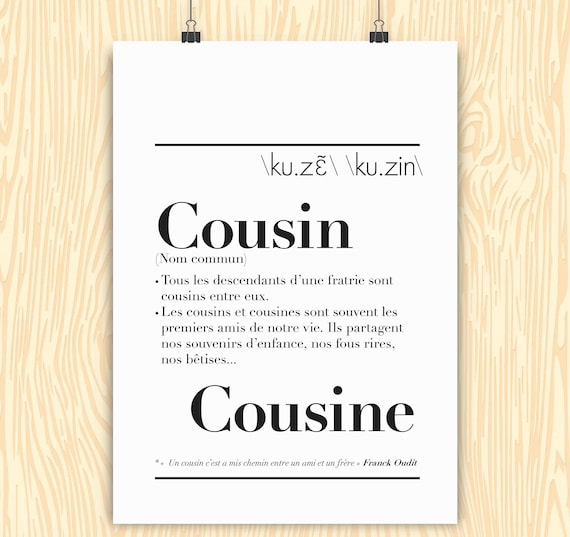 Cousincousin definition poster stopboris Image collections