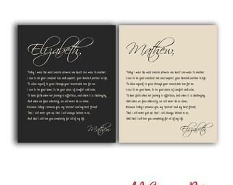 Vows to canvas, Wedding Vows, Wedding Vows Canvas, Wedding Vows Print, His and Her Vows, Wedding vows calligraphy, calligraphy vows, vows