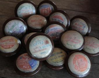 Vintage Knobs Old Fashion Milk Tops 15 pc set Door Pull