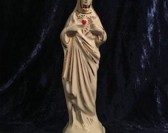 Vintage Ceramic Sacred Heart Of Jesus