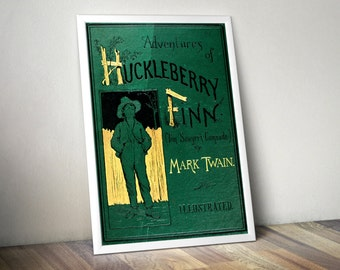 Huckleberry Finn Literary Wall Art - Mark Twain Quote, Librarian, Book Lover Gift, For Book Lovers, Gift for Readers, Grandparent Gift