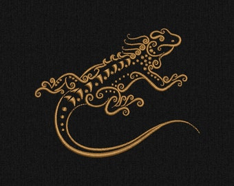 Reptile Lizard Machine embroidery design - 2 size for instant download