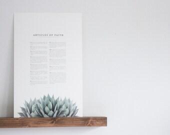Articles of Faith  |  Agave  | Modern LDS Print