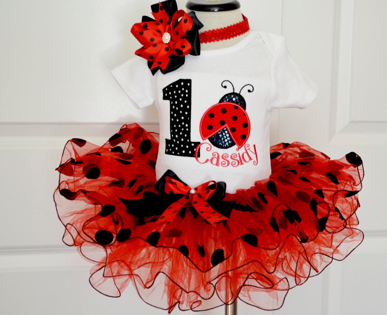 Ladybug Birthday Outfitfirst Birthday Outfit Girlred Black