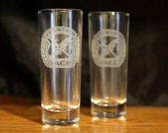 Tactical Air Control Party - TACP - Tall Shotglasses