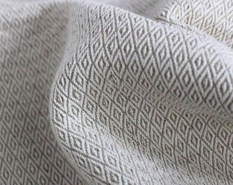 Linen fabric cotton white-broken parallelogram 1m