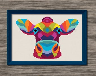 Cow Face  - PDF Cross Stitch Pattern