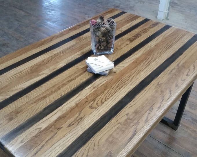 Wood Bar Table High Top Kitchen Table Pub Table Steel Legs Industrial Table