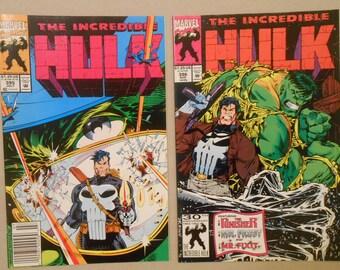 Incredible Hulk #395-#396; Punisher; Hulk and Punisher Team-Up; Dr. Octopus; Pantheon; Peter David Scripts; Dale Keown Art; High Grade!