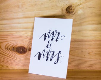 Set of 10 cards postcards Mr & Mrs