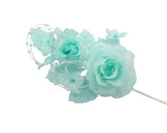 Bridal Flowers (12) - Various Colors - Garden Theme, Floral Craft