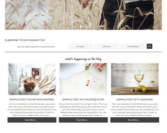 Beyond Madison Theme, WordPress Theme, Responsive WordPress Theme, Blog Design, WordPress Blog Theme, Genesis Child Theme, Watercolor