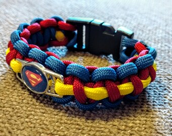 Superman Inspired Paracord Bracelet