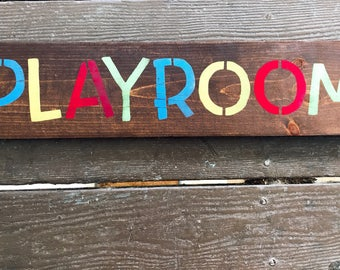Farmhouse Decor / PLAYROOM Signs / Rustic Playroom Wall Decor / Farmhouse Sign / Large Kid's Room Decor / Kid's Wall Art / Children's Room