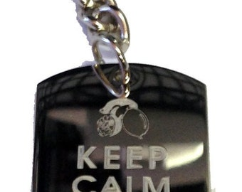Keep Calm and Drink Lemonade - Metal Ring Key Chain DRINK LEMONADE