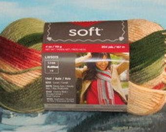 7289937 Red Heart Soft Yarn 4 oz Garden
