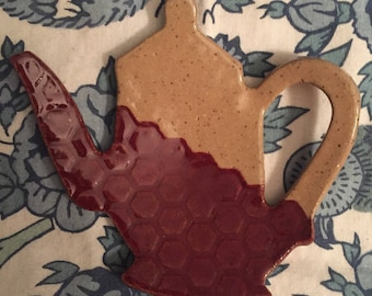 Homemade Ceramic Jewelry Dish, Spoon Rest or Teabag Holder
