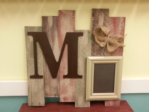 Items Similar To Pallet Wood Sign And Frame Vintage