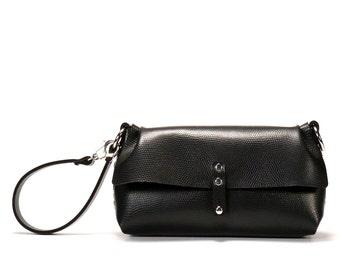 Ebony Wristlet | Black Wrist Handbag - Clutch | Vegan | Made in USA