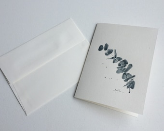Greeting card - herbarium - handmade