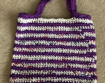 Reuseable Plarn Tote Bag Made from Recycled Plastic Bags
