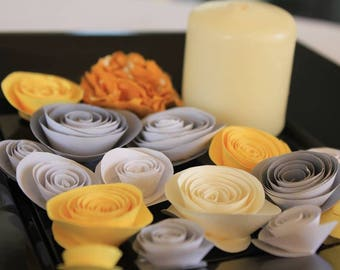 set of paper flowers 0012
