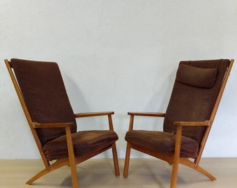 Pair of Vintage Danish Modern Lounge Chairs / Easy Chairs by Skippers - Free NYC Delivery!