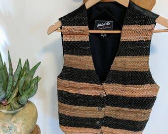Vintage Boho Leather Vest