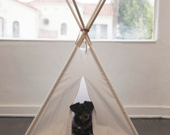 Dog Teepee. Pet Teepee. Cat Teepee. Dog Bed. Dog Tent. Dog House. Cat House. Dog Tipi. Canvas. Pet Gift. Gift for Dogs. Holiday Gift