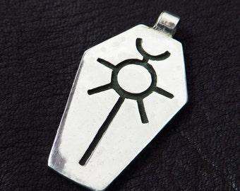 Silver Necron pendant