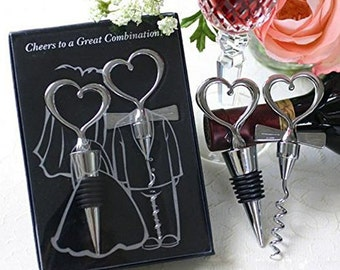 "Wine bottle opener and stopper -Packed in gift box with ""Thank you"" Tag"
